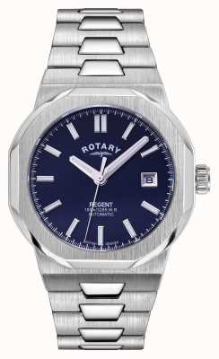 Rotary Mens | Regent | Automatic | Blue Dial | Stainless Steel Bracelet GB05410/05