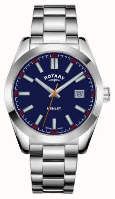Rotary Mens | Henley | Blue Dial | Stainless Steel Bracelet GB05180/05