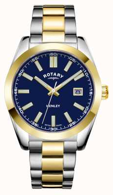 Rotary Mens | Henley | Blue Dial | Two Tone Stainless Steel Bracelet GB05181/05