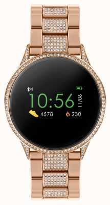Reflex Active Series 4 Smart Watch | Colour Touch Screen | Stone Set Rose Gold Stainless Steel Bracelet RA04-4014