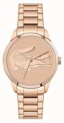 Lacoste Ladycroc | Women's Rose Gold Steel Bracelet | Rose Gold Dial 2001172