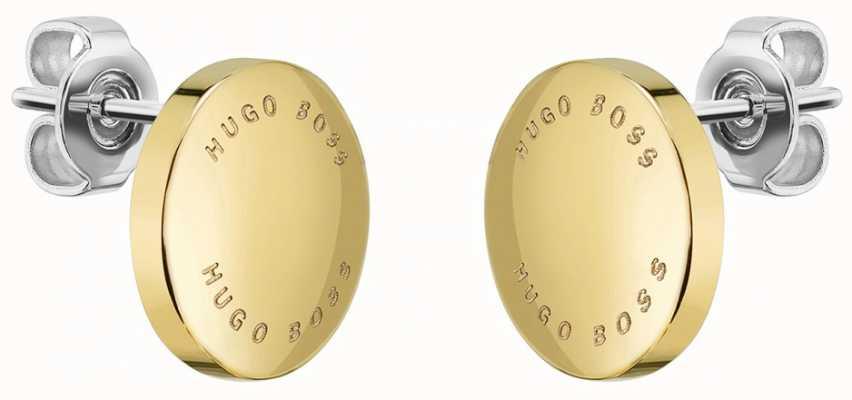 BOSS Jewellery Women's Gold Plated Medallion Earrings 1580159
