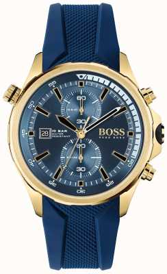 BOSS Globetrotter | Chronograph | Blue Dial | Blue Silicone Strap 1513822