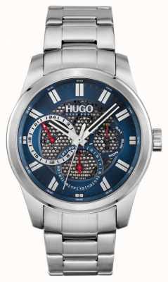 HUGO #Skeleton | Men's Stainless Steel Bracelet | Blue Dial 1530191