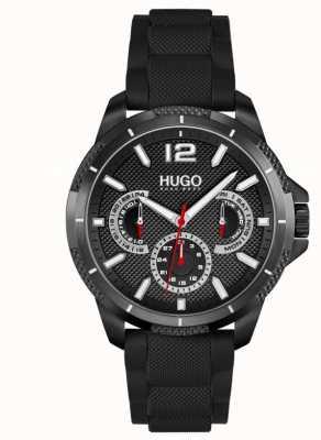 HUGO #Sport | Men's Black Silicone Strap | Black Dial 1530193
