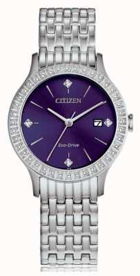 Citizen Women's Eco-Drive Crystal Case FE1200-51L