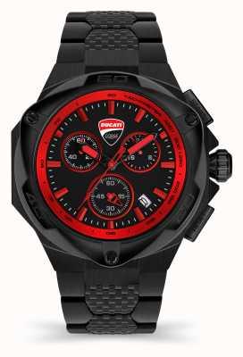 Ducati DT002 | Chronograph | Black Dial | Black PVD Steel Bracelet DU0065-ECHB.B01