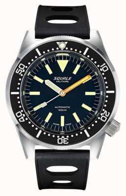 Squale CLASSIC Militaire | Black Dial | Black tropic Silicone Strap 1521-026-MIL-P