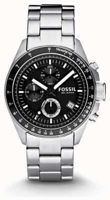 Fossil Mens Silver Chronograph Fashion Watch CH2600IE