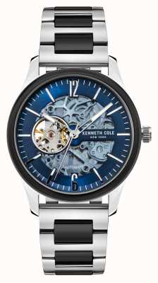 Kenneth Cole Automatic | Dark Blue Dial | Two Tone Stainless Steel Bracelet KC50224001B