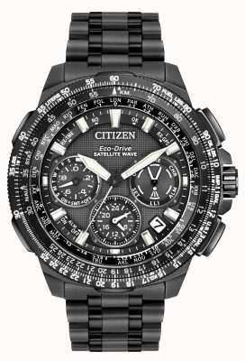Citizen GPS Navihawk Satellite Wave | Black Super Titanium | CC9025-51E CC9025-85E