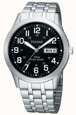 Pulsar Mens Stainless Steel Analogue  Bracelet Watch PXN181X1