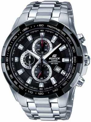 Casio Mens Edifice Stainless Steel Black Dial Chronograph EF-539D-1AVEF