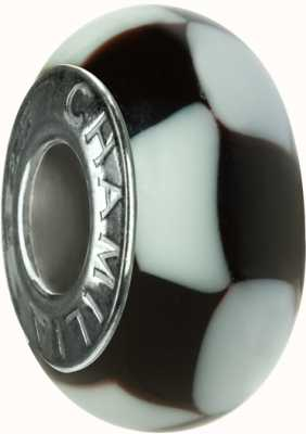 Chamilia Black and White Geometry Charm OB-109