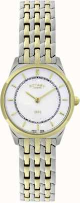Rotary Womens Two-Tone Ultra-Slim Bracelet Watch LB08001/02