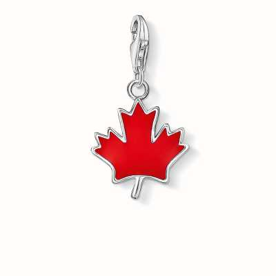 Thomas Sabo Maple Leaf Charm Red 925 Sterling Silver Cold Enamel 0892-007-10