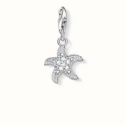Thomas Sabo Starfish Charm White 925 Sterling Silver/ Zirconia 0917-051-14