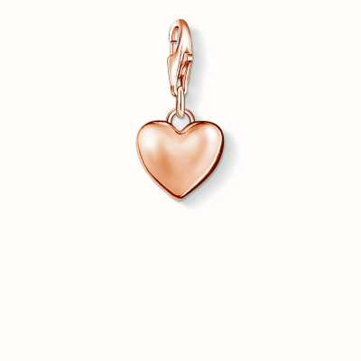 Thomas Sabo Heart Charm 925 Sterling Silver Gold Plated Rose Gold 0926-415-12