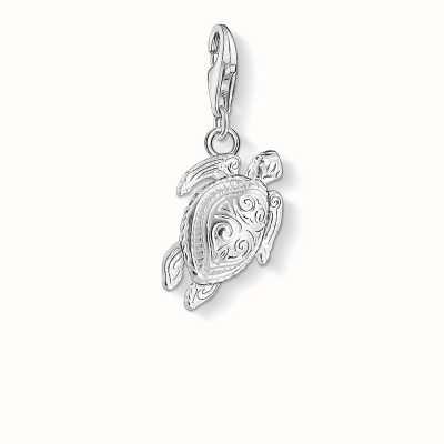 Thomas Sabo Turtle Charm 925 Sterling Silver Cold Enamel 1222-007-12