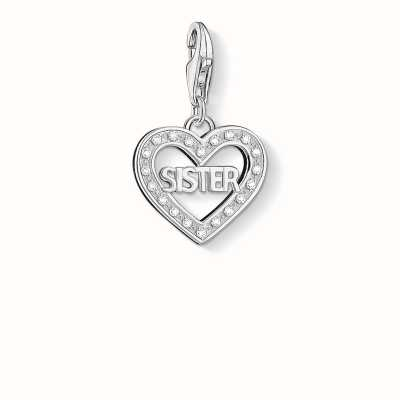 Thomas Sabo Sister Charm White 925 Sterling Silver/ Zirconia 1266-051-14