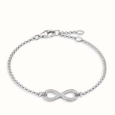 Thomas Sabo Bracelet 16.5/18/19.5cm White 925 Sterling Silver/ Zirconia A1310-051-14