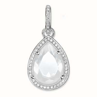 Thomas Sabo Pendant White 925 Sterling Silver/ Milky Quartz/ Zirconia PE696-690-14
