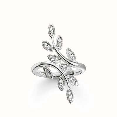 Thomas Sabo Ring White 925 Sterling Silver/ Zirconia TR2017-051-14-52