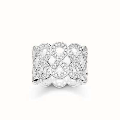 Thomas Sabo Ring White 925 Sterling Silver/ Zirconia TR2086-051-14-54