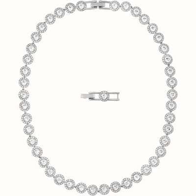 Swarovski Angelic | Rhodium Plated |White | Ladies Necklace 5117703