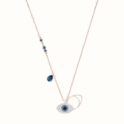 Swarovski Symbolic | Blue | Mixed Metal Finish | Evil Eye |Necklace 5172560