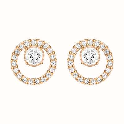 Swarovski Creativity | Rose-Gold Plated| Circle| White |Earrings 5199827