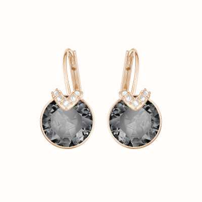 Swarovski Bella V | Rose-Gold Plated | Grey | Drop Earrings 5299317