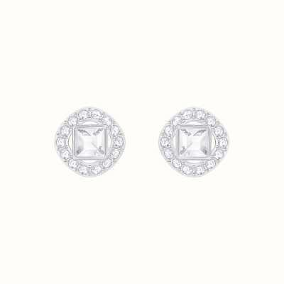 Swarovski Angelic | Rhodium Plated | White |Square | Earrings 5368146