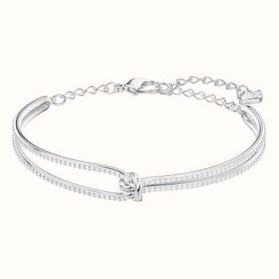 Swarovski Lifelong | Rhoduim Plated | White | Bangle 5368552