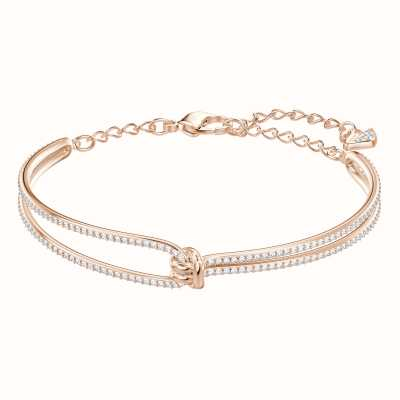 Swarovski Lifelong | Rose-Gold Plated | White | Bangle 5390818