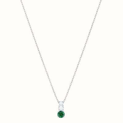 Swarovski Attract Trilogy | Rhodium Plated | Green |Round |Necklace 5416153