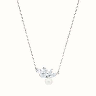 Swarovski Louison | Rhodium Plated | White | Pearl |Necklace 5422685