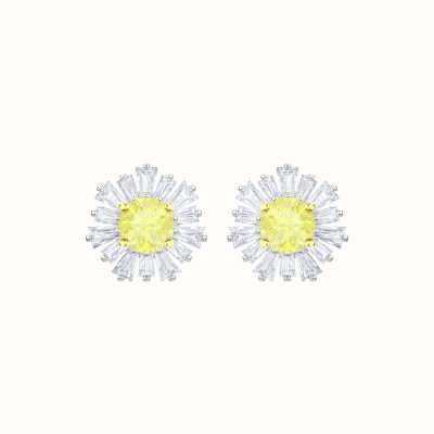 Swarovski Sunshine |Rhodium plated | White |Yellow | Earrings 5459591