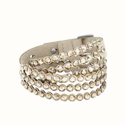 Swarovski Power Collection | Slake Bracelet | Alcantara Fabric | Gold 5494230